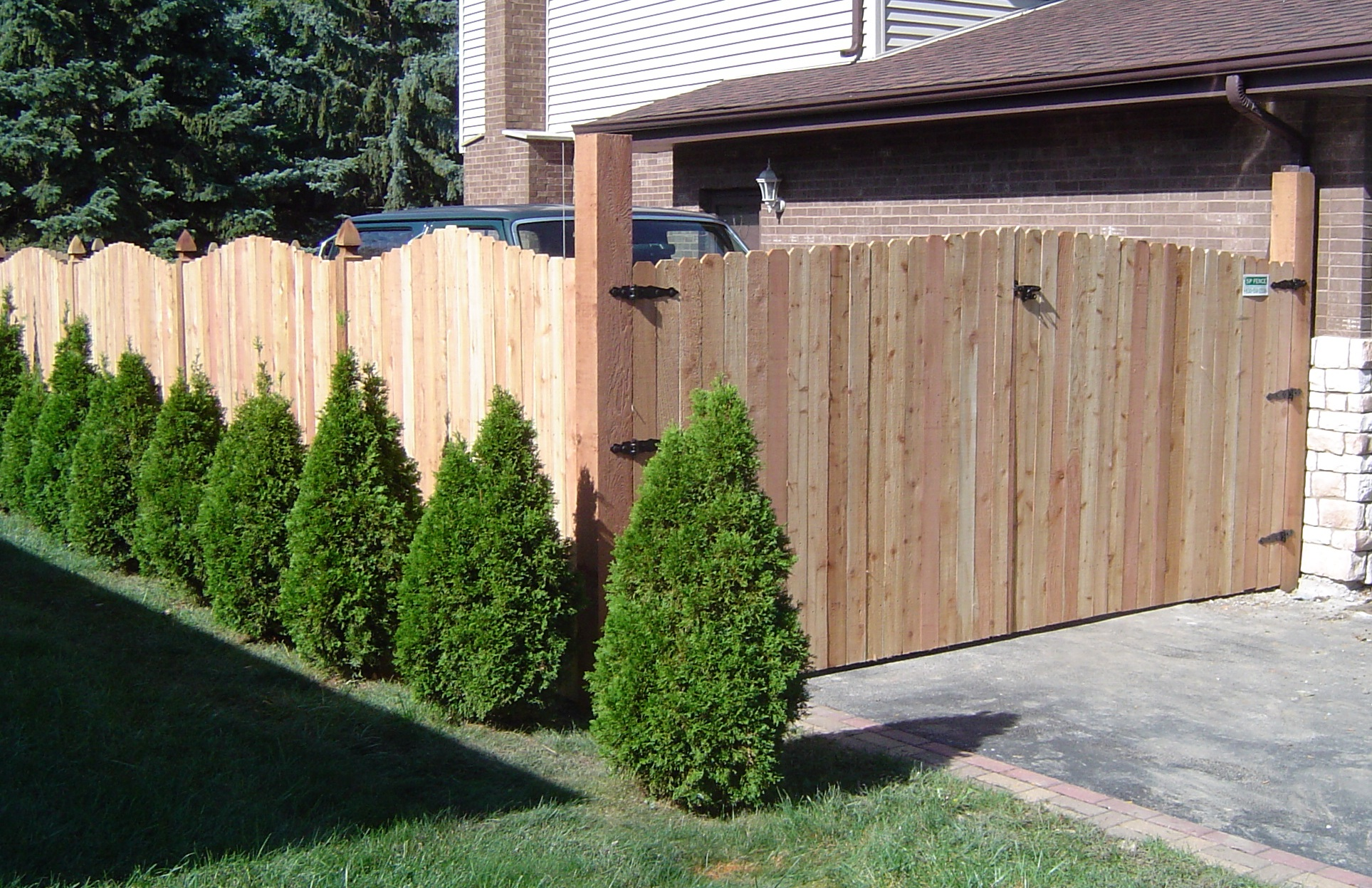 wood fence double gate this is a double gate installed by sp fence